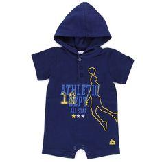 $3 RBX Infant Hooded Athletic Dept. Romper