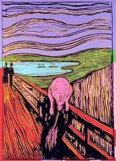 """malinconie: """" The Scream by Andy Warhol """""""