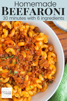 Macaroni Recipes, Healthy Pasta Recipes, Lunch Recipes, Easy Dinner Recipes, Beef Recipes, Real Food Recipes, Easy Meals, Noodle Recipes, Dinner Ideas