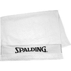Toalla Spalding, 100% algodón. Ideal para el trabajo en gimnasio o en sala, ducha y preparación física. Medidas 60 x 100 cm  www.basketspirit.com/Spalding-complementos