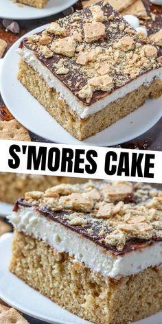 Graham Crackers, Graham Cracker Cake, Graham Cake, Cheesecake Desserts, Köstliche Desserts, Delicious Desserts, Cheesecake Strawberries, Baking Recipes, Cake Recipes