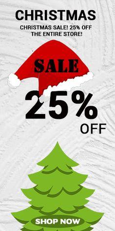 Social Media Banner, Google Ads, Graphic Design Services, Web Banner, Christmas Sale, Free