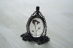 real flower necklace terrarium necklace dried by ZokaKurylov