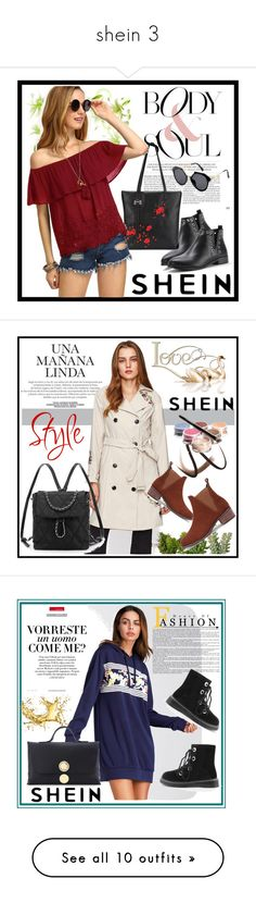 """""""shein 3"""" by aida-1999 ❤ liked on Polyvore featuring Burberry, Bellápierre Cosmetics, Vanity Fair, Harrods and WALL"""