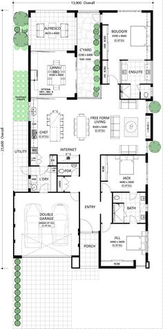 Our stylish and modern designs are for those who want more from their house. Duplex Floor Plans, Home Design Floor Plans, House Floor Plans, House Plans Australia, House Construction Plan, Courtyard House Plans, Architectural House Plans, Floor Plan Layout, Residential Architect