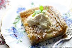 peach macadamia tart