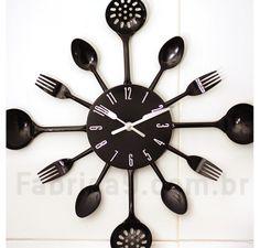 Relógio de Parede Talheres Preto | Fábrica9 - Loja de Presentes Criativos e Decoração Criativa