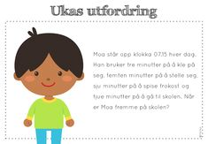 frk linn: ukas utfordring Kids Education, Back To School, Classroom, Teaching, Maths, Flower, Children, Recipes, First Grade