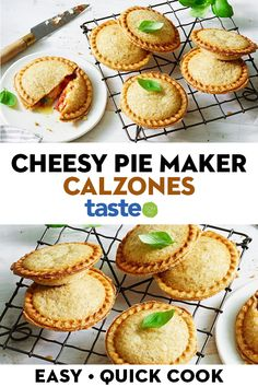 Get that pie maker out of the cupboard! These cheesy calzones with tomato, ham and basil make great party food (or a stellar weeknight dinner). Mini Pie Recipes, Best Dessert Recipes, Cooking Recipes, Breville Pie Maker, Tajin Recipes, Mini Pies, Calzone, Easy Meal Prep, Different Recipes