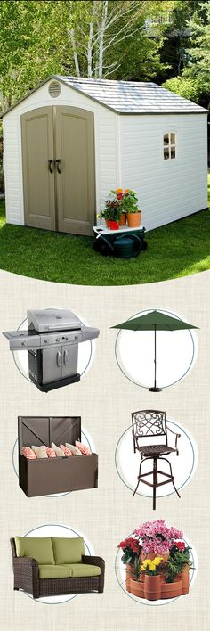 Don't let your tools and outdoor appliances get destroyed by the weather. Storage sheds and deck boxes are great investments to ensure your possessions are safe and protected. Visit Wayfair and sign up today to get access to exclusive deals everyday up to 70% off. Free shipping on all orders over $49.