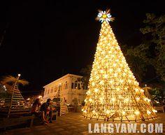 Laoag City philippines bamboo Christmas tree