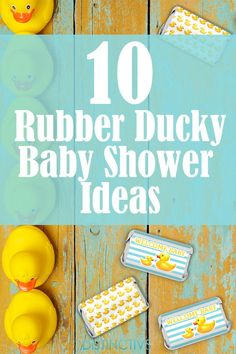 10 Sweet Rubber Duckie Baby Shower Ideas Check out our great article for 10 Rubber Ducky Baby Shower Ideas to help you throw the perfect duckie shower. Ducky Baby Showers, Rubber Ducky Baby Shower, Baby Shower Duck, Baby Shower Vintage, Gender Neutral Baby Shower, Rubber Ducky Party, Girl Shower, Baby Shower Balloons, Baby Shower Parties