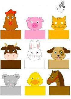 farm-animals-finger-puppets « Preschool and Homeschool Farm Animals Preschool, Farm Animal Crafts, Finger Puppet Patterns, Finger Puppets, Animal Activities, Preschool Activities, Paper Puppets, Puppet Crafts, Farm Theme