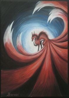 Nine Tailed Fox II by Saraais on DeviantArt