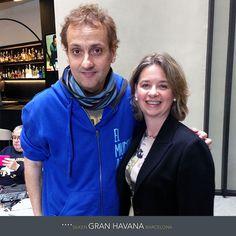 Albert Espinosa con Helena, subdirectora del Hotel Silken Gran Havana Barcelona http://www.hoteles-silken.com/hoteles/gran-hotel-havana-barcelona/