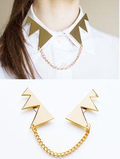 Zigzag magnet collars