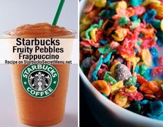 Starbucks Fruity Pebbles Frappuccino! #StarbucksSecretMenu Recipe here: http://starbuckssecretmenu.net/starbucks-secret-menu-fruity-pebbles-frappuccino/