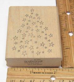 STAR TREE CELESTIAL BY DENAMI VINTAGE 1984 Rubber Stamp   #DENAMI #RUBBERSTAMP