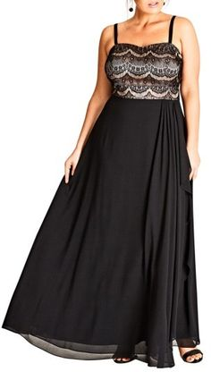 529f6ee986 online shopping for City Chic Eyelash Ebony Lace & Chiffon Gown (Plus Size)  from top store. See new offer for City Chic Eyelash Ebony Lace & Chiffon  Gown ...