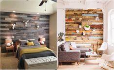 Деревянные стены в интерьере.