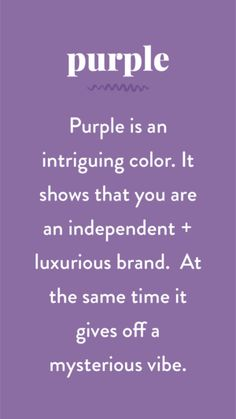 The Psychology of Color in Branding — Pace Creative Design Studio Psychology Quotes, Color Psychology, Health Psychology, Behavioral Psychology, Psychology Meaning, Psychology Studies, Developmental Psychology, Psychology Careers, Purple Love