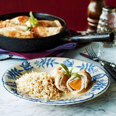 Kalkkunarullat rakuunakastikkeessa | K-ruoka #persimon Grains, Rice, Food, Essen, Yemek, Jim Rice, Meals