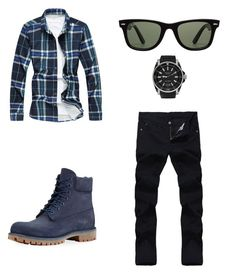"""""""Men"""" by paulina-mr on Polyvore featuring Timberland, Ray-Ban, Gucci, men's fashion y menswear"""