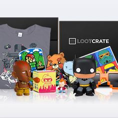 Loot Crate - Monthly Geek and Gamer Subscription Box.In case anyone wanted to know what to get me for xmas or my bday.