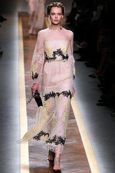 $109 Miu Fashion Full Length SML Organza Lace Runway White Yellow FloraPrint dress | eBay