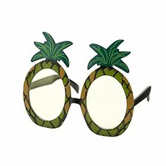 Tropical Pineapple Party Sunglasses. Pineapples at the ready! Treat yourself to these adorable pineapple sunglasses and finish off your outfit with even more tropical vibes this summer. Bright and bold, whether you're heading on holiday or to a garden party, you'll be turning heads with these. Great for Selfies and party pictures.