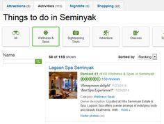 Lagoon Spa Seminyak is ranked #1 od 68 Welness and Spas in Seminyak  http://goo.gl/uYZBe4