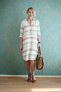 Knee-length summer dress for the office