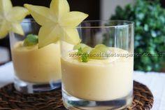 Mousse de manga com iogurte light | Receitas e Temperos
