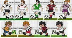 Futbol cenefa punto cruz