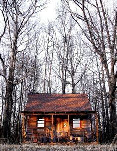 Not necessarily my dream home for the every day living, but it would be nice to have a little get away in the woods.