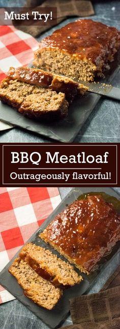 BBQ Meatloaf Recipe - dinner via @foxvalleyfoodie