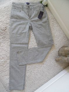 BNWT NOT YOUR DAUGHTER'S JEANS 4 SKINNY~NYDJ LIFTTUCK JACQUARD WAIST 30~ $124 #NotYourDaughtersJeans #JACQUARDPRINTSKINNY