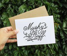 Mushy Stuff // Valentines Day Card // Love Card // by GrainandDot