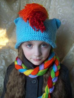 Hey, I found this really awesome Etsy listing at https://www.etsy.com/listing/90078801/rainbow-dash-knit-rainbow-dash-hat-scarf