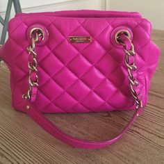 🎉HOST PICK🎉Kate Spade Gold Coast handbag Gold Coast Elizabeth in hot fuschia. In EUC! Original tags included no dustbag🚫NO TRADES 🚫NO PP🚫*please don't ask*🎀Host Pick 5/15 Style Obsessions🎀 kate spade Bags Shoulder Bags