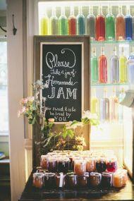 Homemade jam for favors