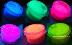 7 Pack of NEW and Improved UV DayGlo glitter Free Rainbow Glitter as a Gift pixie powder fairy dust EDC. $19.99, via Etsy. // Safe for skin or crafts