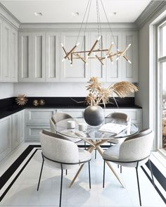 cozy dining room design ideas that looks awesome 17 ~ Modern House Design Farmhouse Style Kitchen, Home Decor Kitchen, Kitchen Interior, Modern Farmhouse, Kitchen Ideas, Kitchen Dining Sets, Condo Kitchen, Family Kitchen, Country Kitchen