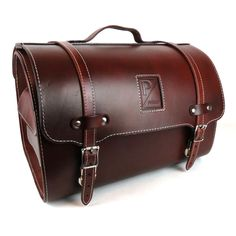 Leather Piaggio Bag/Topcase