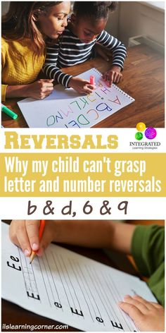 Reversals: Why My Child Can't Grasp Letter and Number Reversals (b & d, 6 & - Not Always Dyslexia - Integrated Learning Strategies Sensory Activities, Infant Activities, Learning Activities, Teaching Resources, Classroom Resources, Teaching Ideas, Pre Writing, Kids Writing, Writing Skills