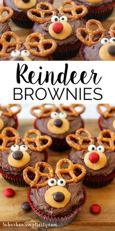 How about adding a little cuteness to your holiday with this Adorable Reindeer Brownie Recipe?? Not only delicious, but super easy to make! The perfect dessert for Christmas.