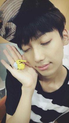 The relationship between Kwangmin Jo and Pikachu in ONE picture!! #Kwangmin Jo #Pikachu