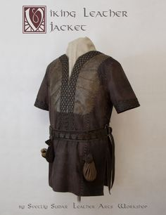 """Here you can see the most accurate replica of Ragnar Lothbrok leather jacket from TV series """"Vikings""""."""