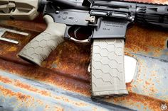 Hexmag Tactical Rubber Grip and Magazine, both in FDE - Photo by Dstrbdmedic167