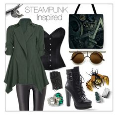 """Steampunk Inspired"" by queenofsienna ❤ liked on Polyvore featuring Miss Selfridge, ZeroUV, Burberry, Luichiny, Torrid and PlatformBoots"